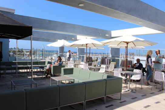 The rooftop patio at Shade Hotel Redondo Beach.