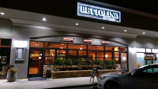 Looking into Bettolino Kitchen in Redondo Beach's Hollywood Riviera neighborhood.
