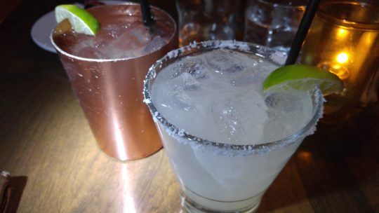 Moscow Mule and Cadillac Margarita.