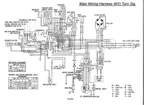 small resolution of 1982 honda xl250r wiring diagram data wiring diagram today rh 16 unimath de 1976 honda xl 250 1979 honda xl250 wiring diagram