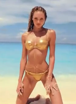 Candice Swanepoel Behind the Scenes of Victorias Secret Swim 2013  South Beach Magazine