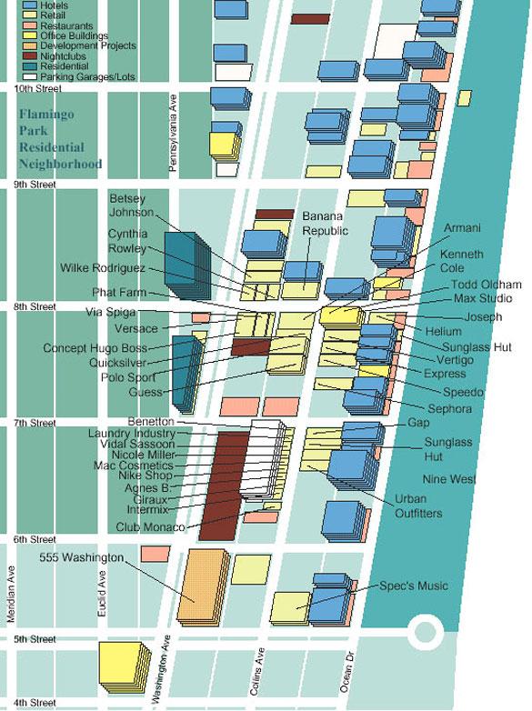 Collins Avenue Shopping Map  South Beach Magazine
