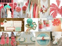 Tropical Coral & Mint  SouthBound Bride