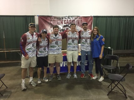 USC Anglers at the 2017 Palmetto Sportsmen's Classic with SCDNR's Laurin Beckroge