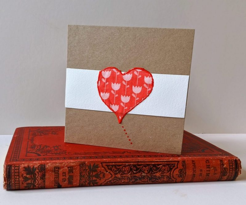 Flower Heart Card