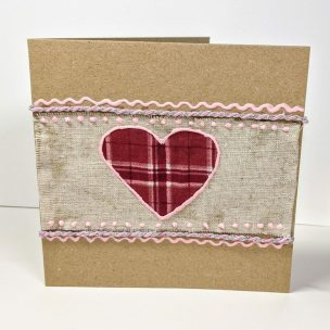 Rustic style Valentine's card