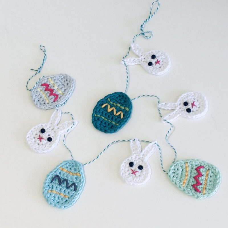Easter Bunting - Blue