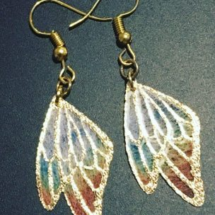 Gold rainbow wing drops