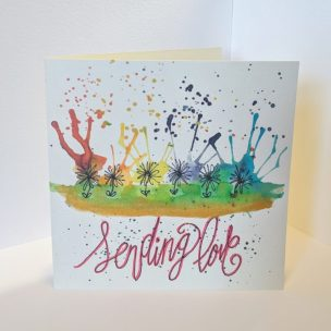 Sending Love Rainbow Card