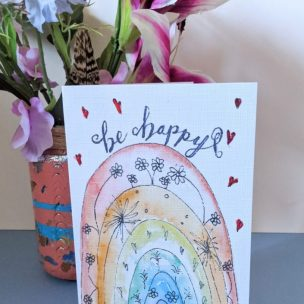Be happy Rainbow Card