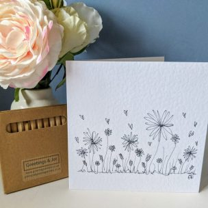 Wild flowers - colour it yourself Greetings Card