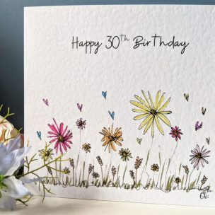 Summer Wild flowers Card