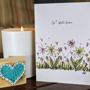 Wild Summer Flowers Card A6
