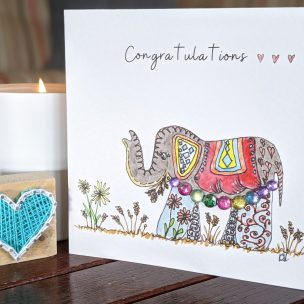Congratulations - Elephant card