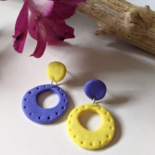 Classic 80s - bright and bold earrings