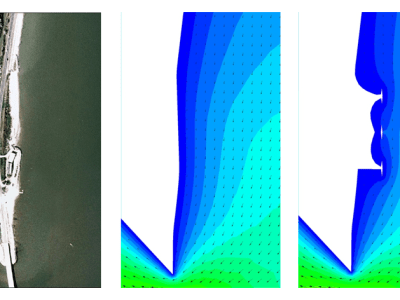 Hydrodynamic Modeling of a Proposed Pocket Beach