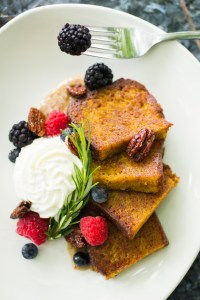 try our delicious carrot cake french toast for breakfast