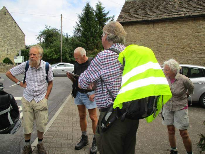 In Ford, Brian dons the hi-viz to back mark along a short stretch of road
