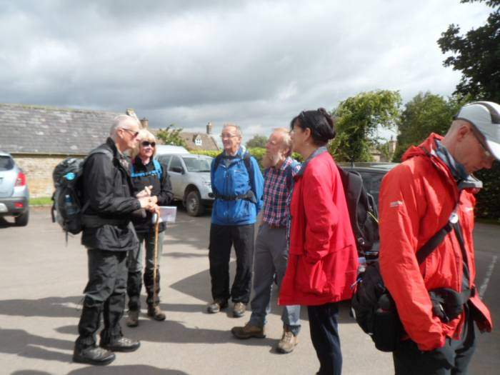 We are joined for Ann and Tim's walk by Ramblers from Stratford-upon-Avon and Durham