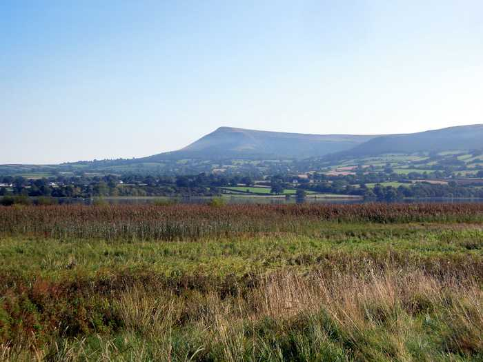 Mynydd Llangorse, over 500m, is nearby