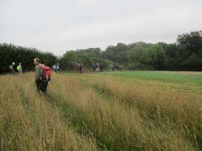We set off round a field