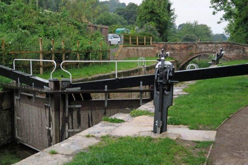 A recently restored lock