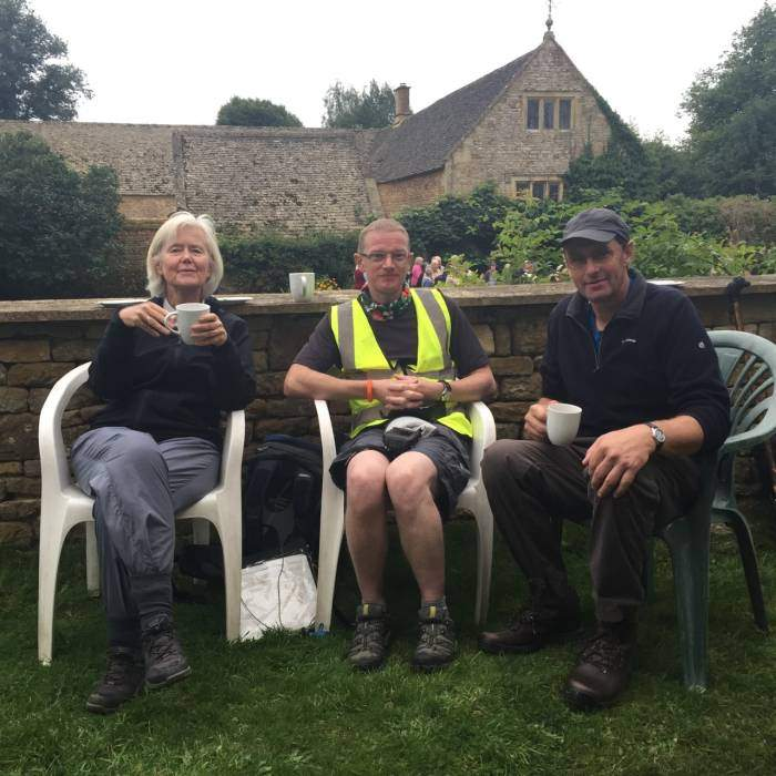 While many of the group were still unpacking after Brecon, a select group joined Graham for cakes at Chastleton