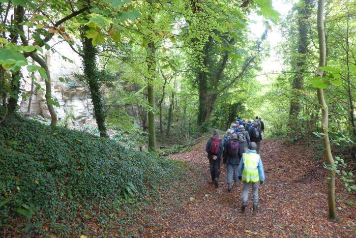 We head through Coaley Wood.