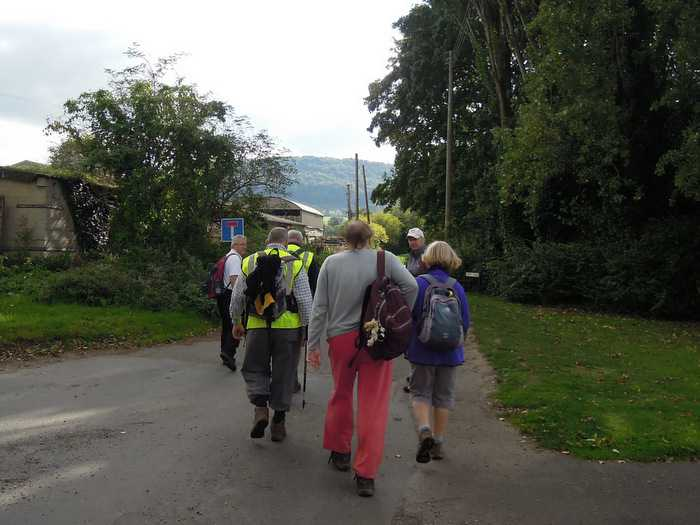 Then set off for the big climb of the day