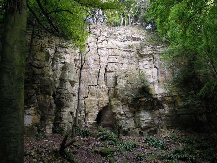 Past an old quarry