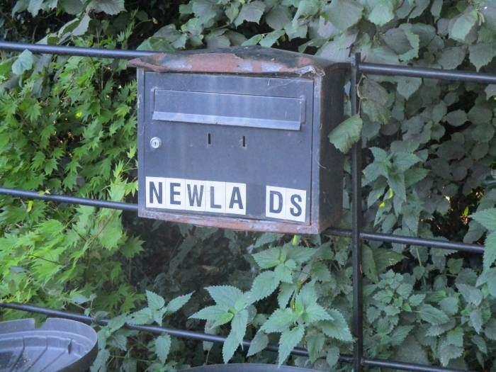 A rather disappointing letter box for such a nice house