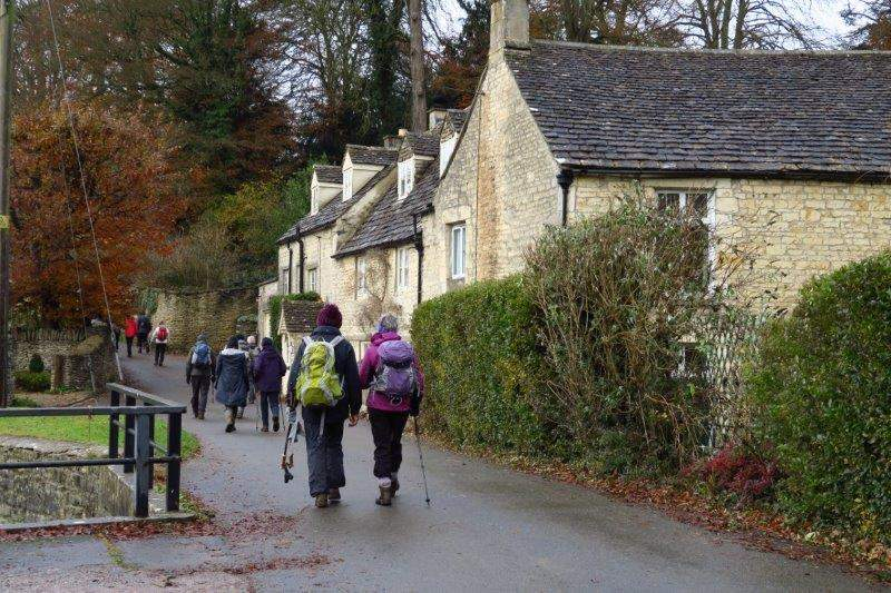 We pass a number of cottages