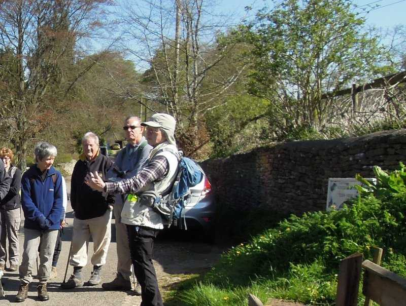 Mike tells us about our walk into the gulch of the river Frome. What's he up to here?