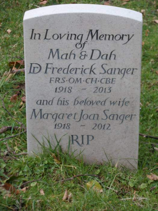 A very simple gravestone for a man who achieved so much.