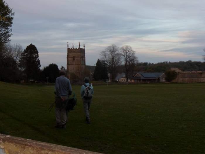 As the evening ends, we reach Horsley church