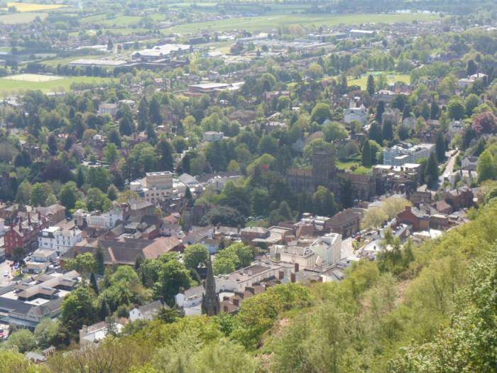 And can look down on Great Malvern Priory