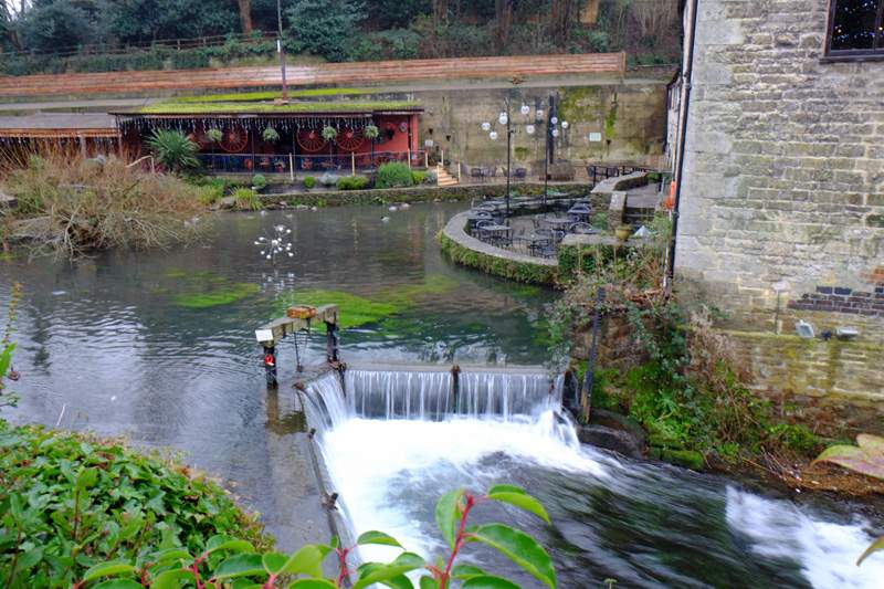 The Mill Pond and hotel terrace
