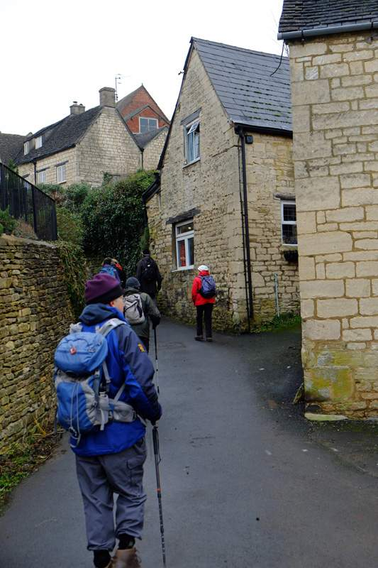 Following narrow lanes back to the cars