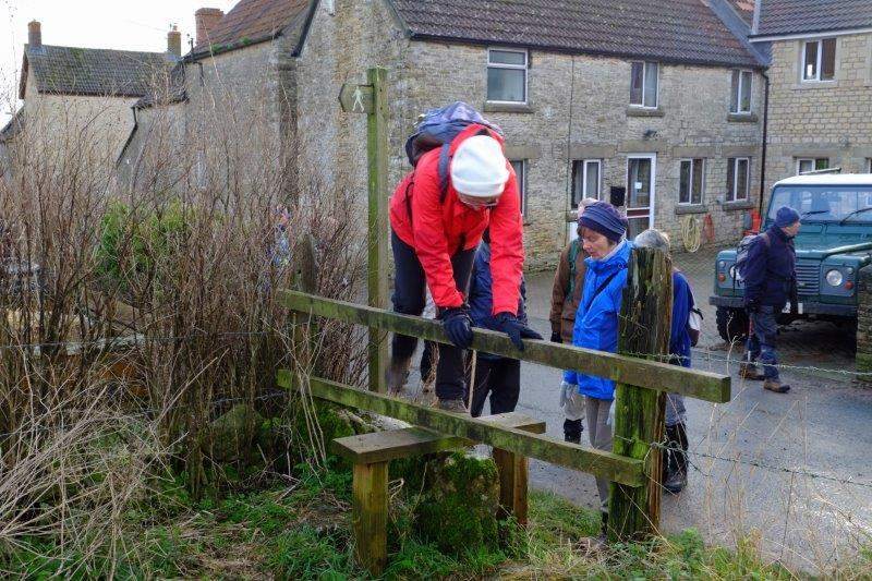 A stile takes us out of Tresham