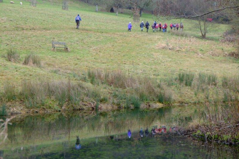 Round a pond below Elcombe