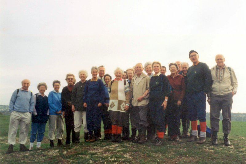 """Selsley Common October 1995 on our book launch. """"Little"""" Jim is on the right."""