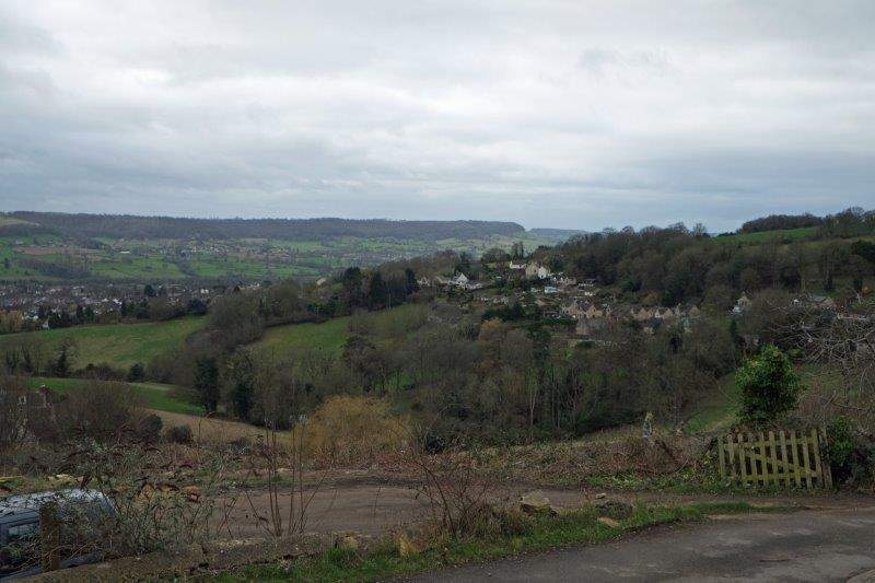 As we leave the village, we have views across the valley
