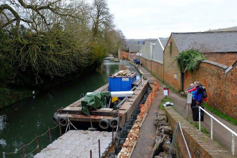 Inspecting the restoration work