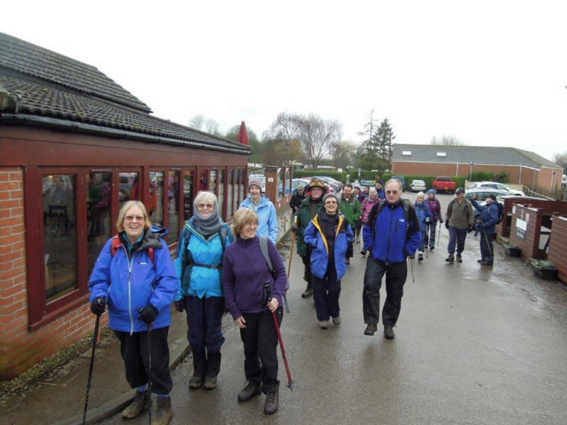 Quite a good crowd turn up for Margaret's leisurely walk from Shepherd's Patch