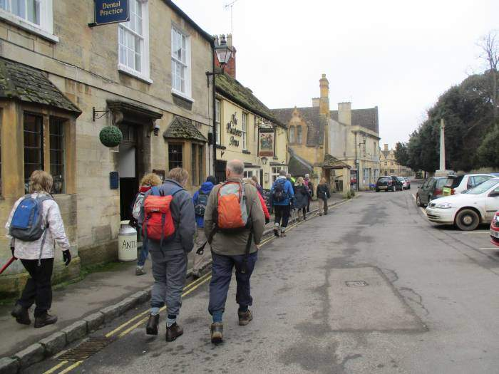 We walk through the streets of Winchcombe