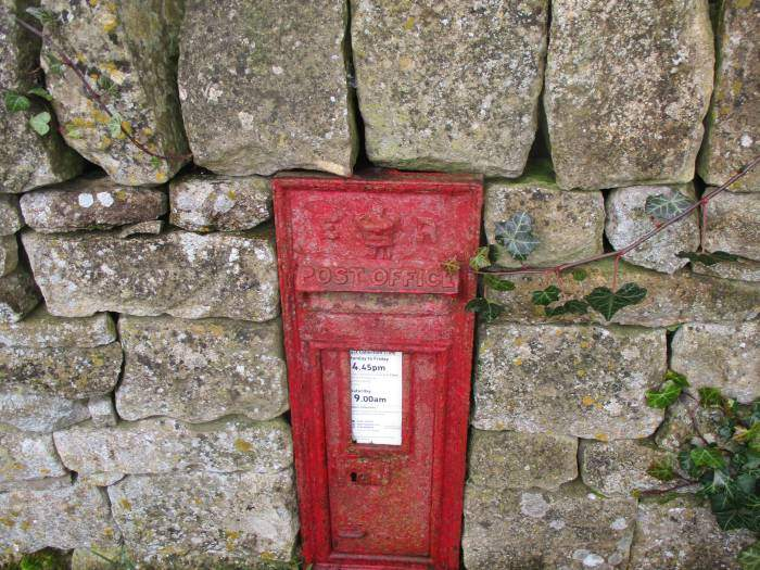 A RARE Edward V11 post box, just like the one we saw last week at Syde!