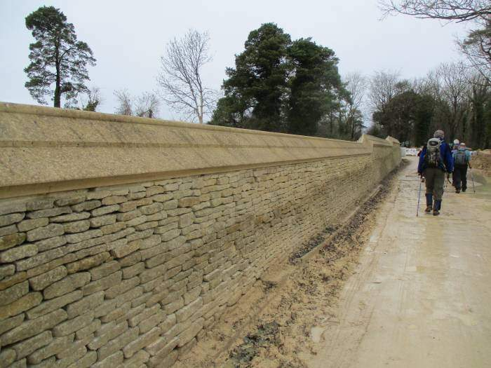 Lovely wall on the left, just clay on the right