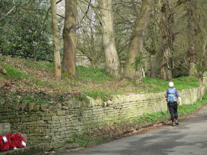 Up Station Road, Mike, who walked to the start of the walk, peels off home, having already done his hill