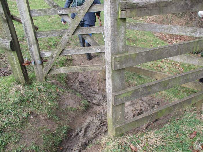 A very muddy kissing gate
