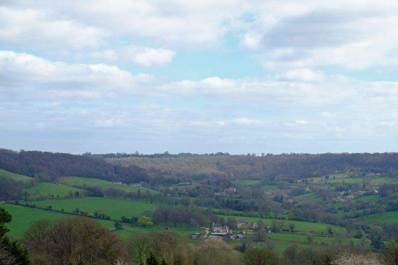 Looking down into the Painswick valley